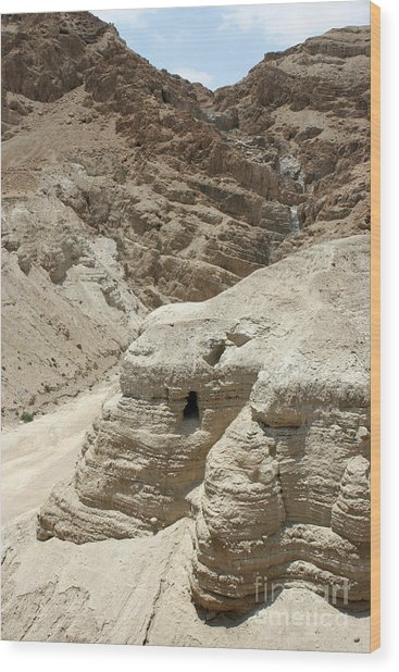 Caves Of The Dead Sea Scrolls Wood Print