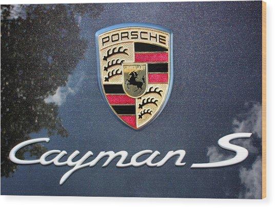 Cayman S Wood Print