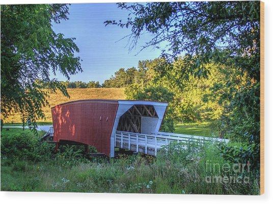 Cedar Bridge  Wood Print