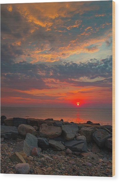 Cedar Point Sunrise Wood Print