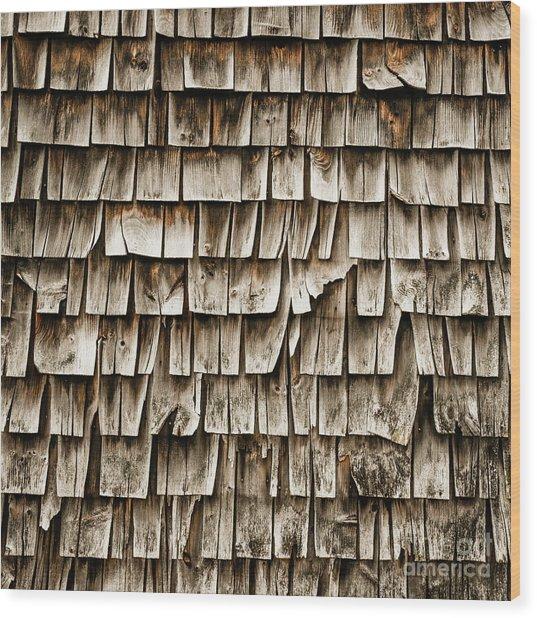 Cedar Shingles Pattern Wood Print