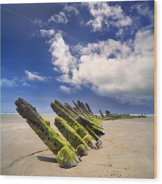 Cefn Sidan Beach 3 Wood Print