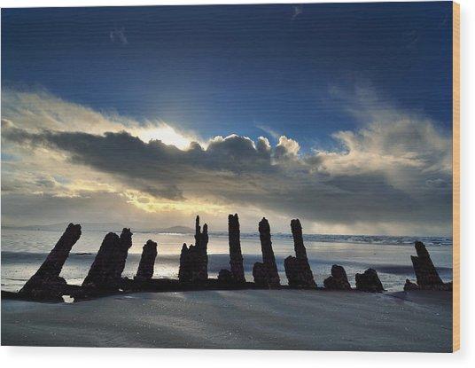 Cefn Sidan Beach 5 Wood Print