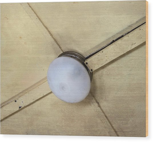Ceiling Light On Antique Train Wood Print