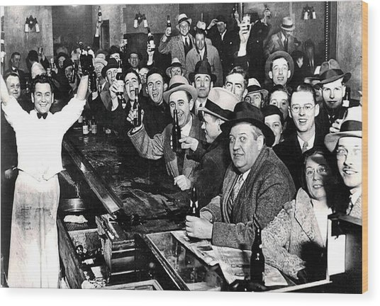 Celebrating The End Of Prohibition Wood Print