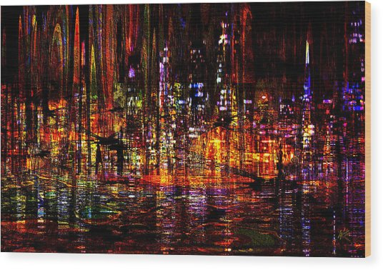 Celebration In The City Wood Print