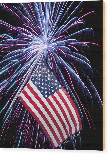 Celebration Of Freedom Wood Print