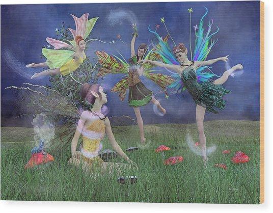 Celebration Of Night Alice And Oz Wood Print