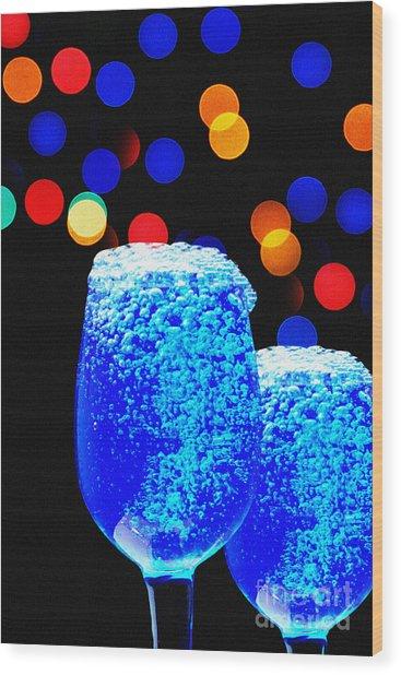 Celebrations With Blue Lagon Wood Print