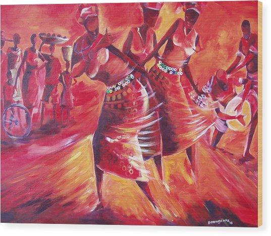 Celeration Wood Print by Michael Echekoba