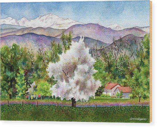Celeste's Farm Wood Print