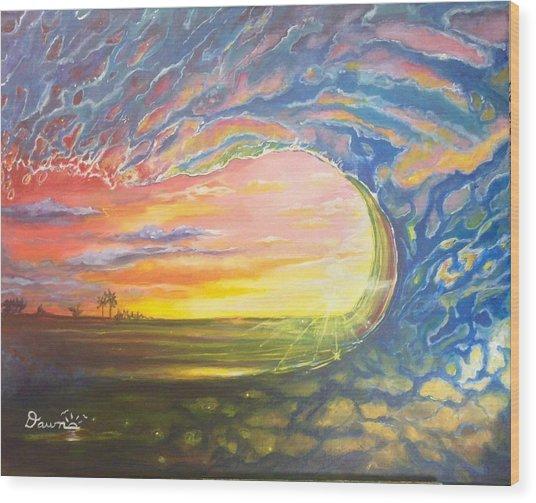 Celestial Break Wood Print
