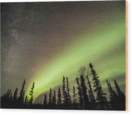 Celestial Collision Wood Print