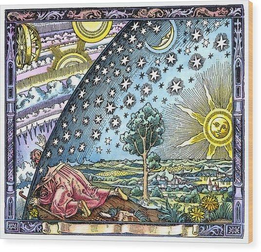 Celestial Mechanics, Medieval Artwork Wood Print