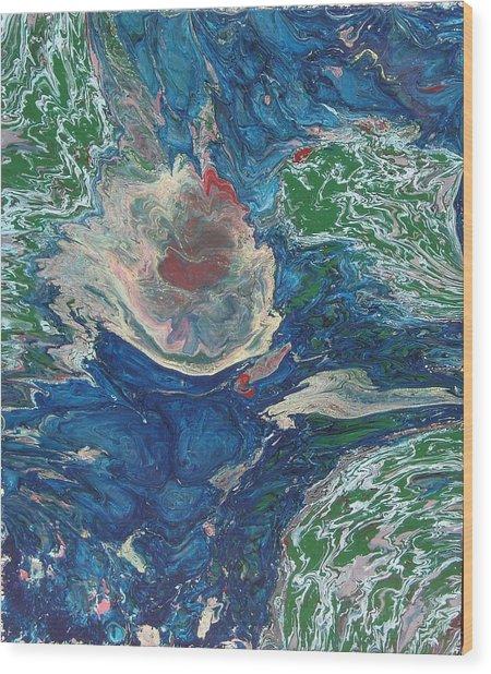 Celestial Rebirth Wood Print