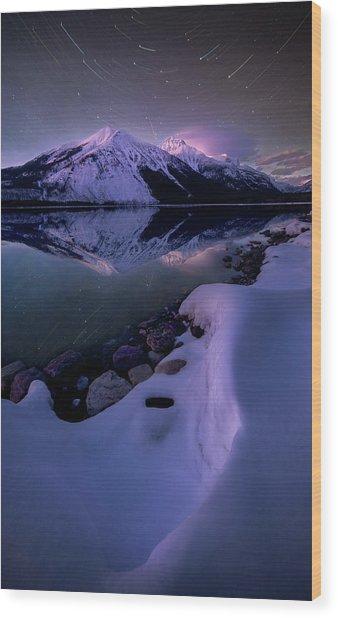 Celestial Reflection // Lake Mcdonald, Glacier National Park  Wood Print
