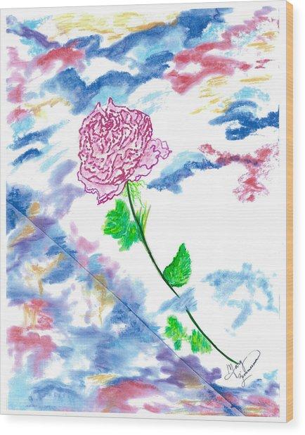 Celestial Rose Wood Print