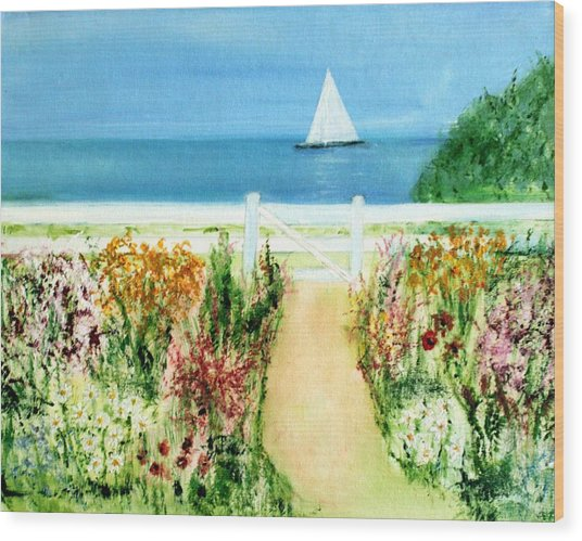 Celia Thaxter Wood Print by Michela Akers