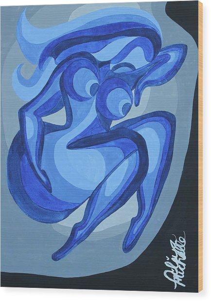 Celibacy Blues Wood Print