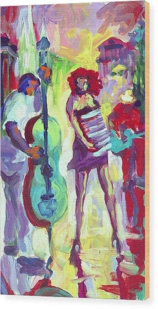 Cello Wood Print by Saundra Bolen Samuel