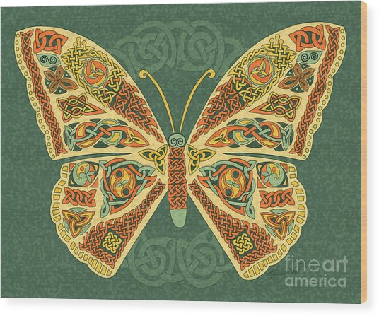 Celtic Butterfly Wood Print