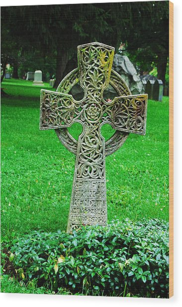Celtic Cross  Wood Print by Brigid Nelson