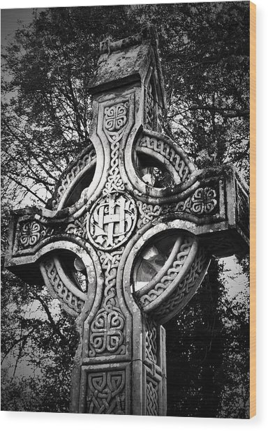 Celtic Cross Detail Killarney Ireland Wood Print