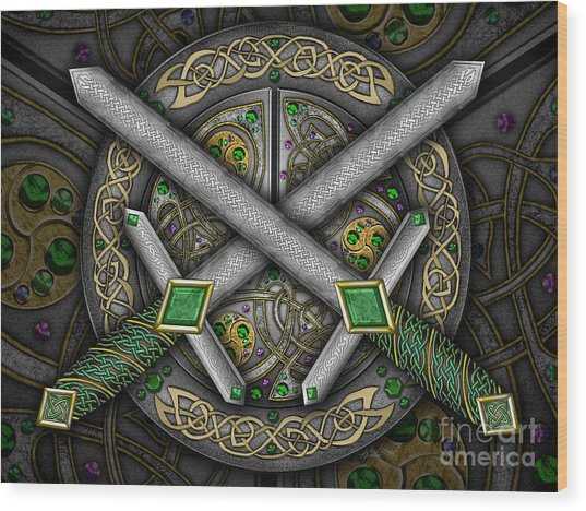 Celtic Daggers Wood Print