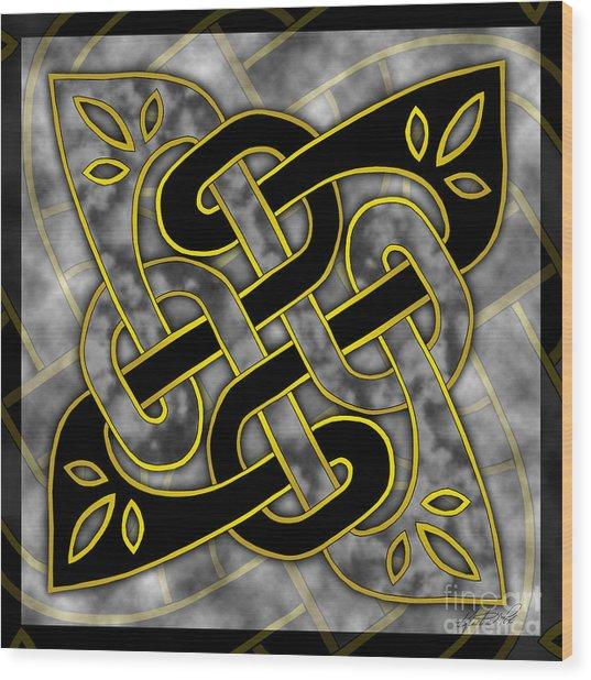 Celtic Dark Sigil Wood Print