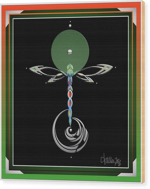 Celtic Dragonfly Wood Print