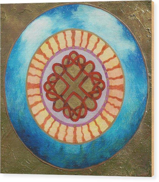 Celtic Heart Knot Mandala Wood Print by Jo Thompson