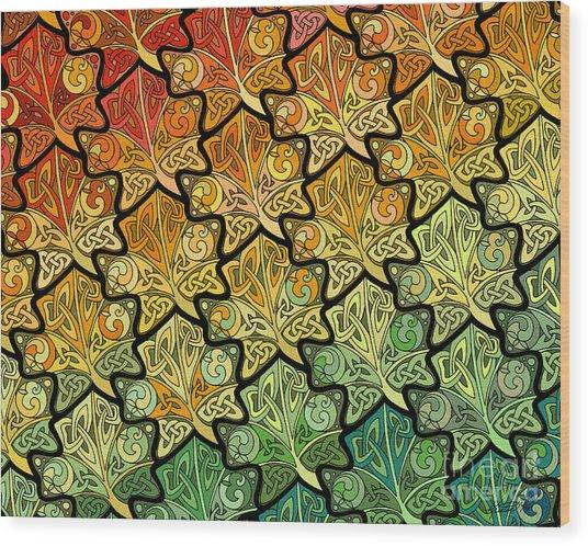 Celtic Leaf Transformation Wood Print