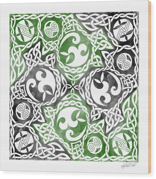 Celtic Puzzle Square Wood Print
