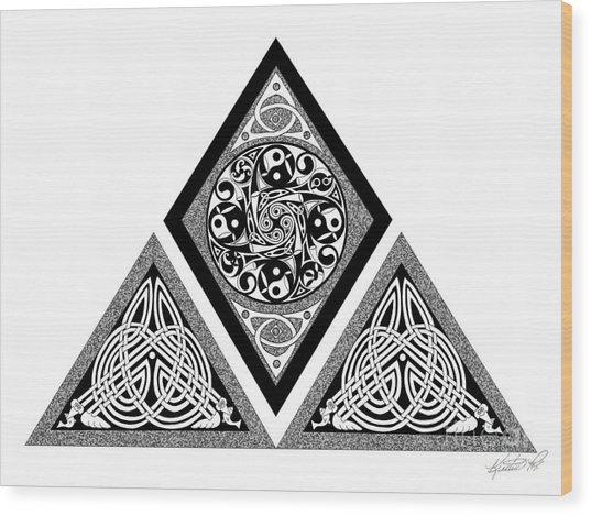 Celtic Pyramid Wood Print