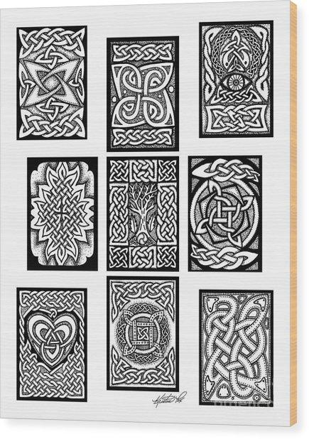 Celtic Tarot Spread Wood Print