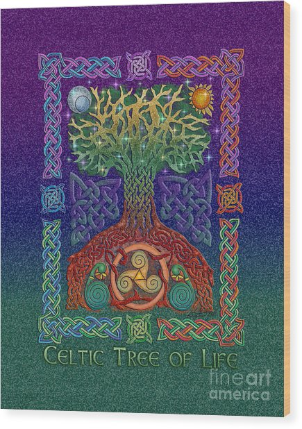 Celtic Tree Of Life Wood Print