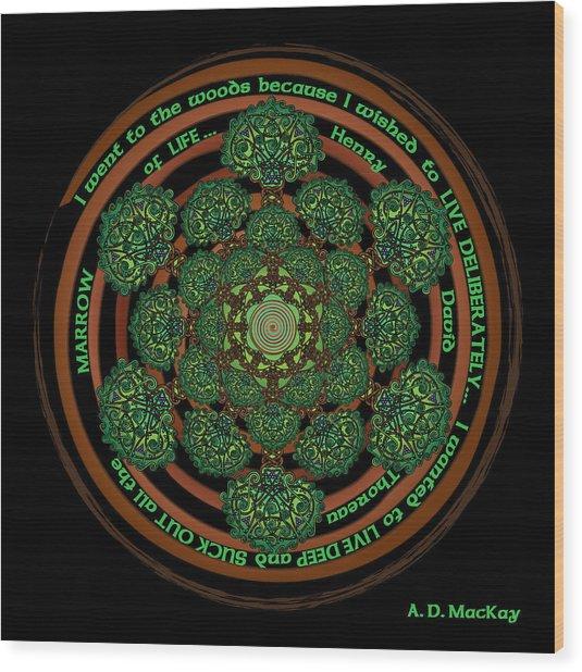 Celtic Tree Of Life Mandala Wood Print