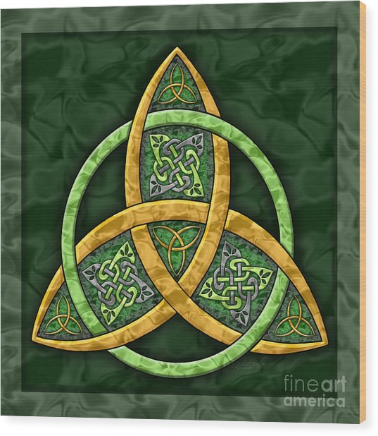 Celtic Trinity Knot Wood Print