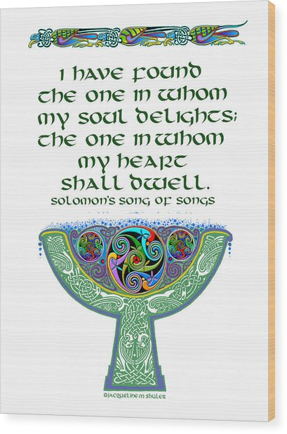 Celtic Wedding Goblet Wood Print