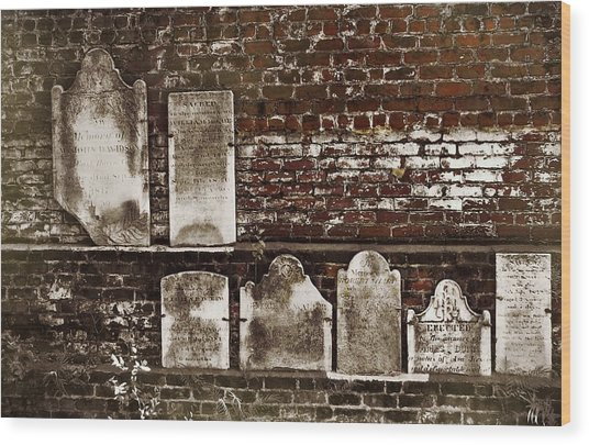 Cemetary Wall Wood Print by JAMART Photography
