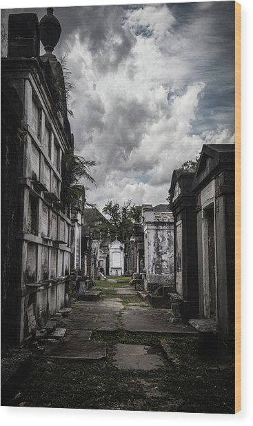 Cemetery Row Wood Print