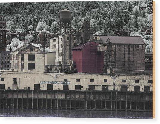 Centennial Mills Wood Print