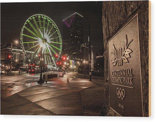 Centennial Park 2 Wood Print
