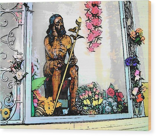 Central American Jesus Wood Print by Lisa Dunn