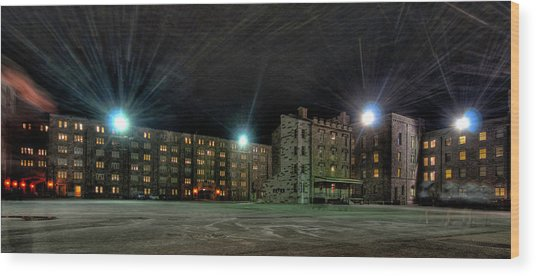 Central Area At Night Wood Print