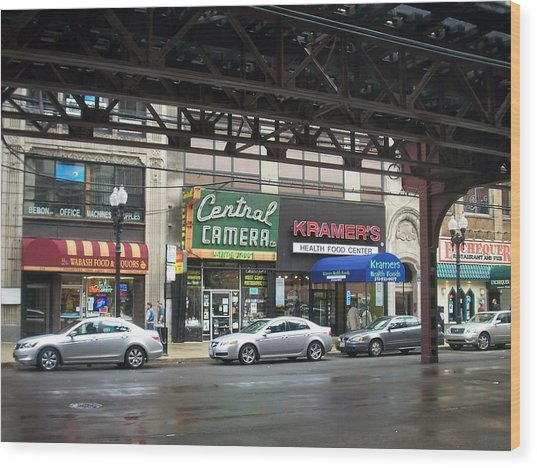 Central Camera On Wabash Ave  Wood Print