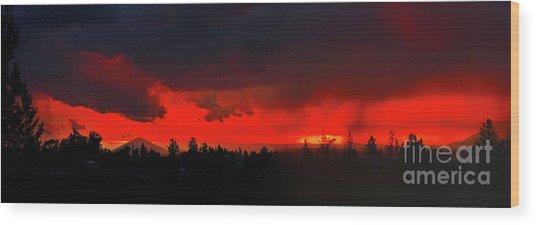 Central Oregon Sunset Wood Print