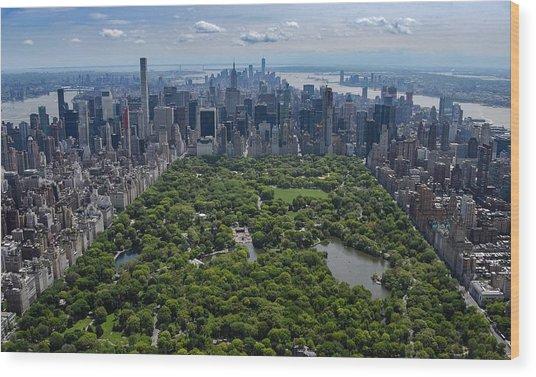 Central Park Aerial Wood Print