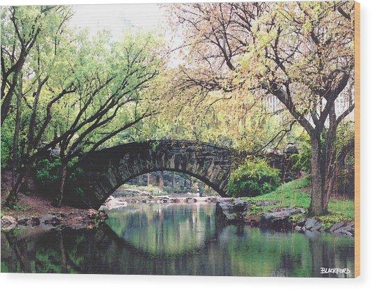 Central Park Bridge Wood Print by Al Blackford