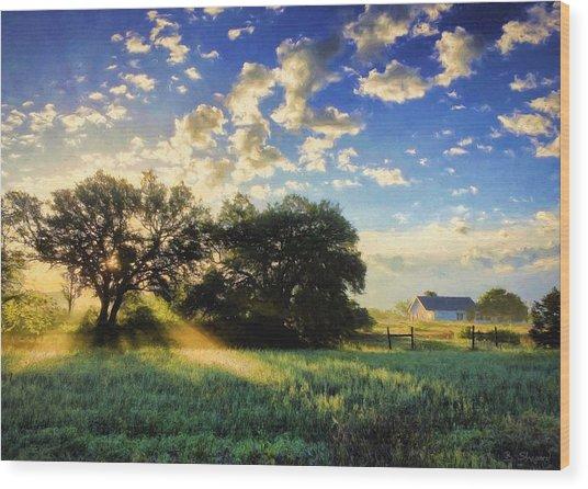Central Texas Sunrise Wood Print